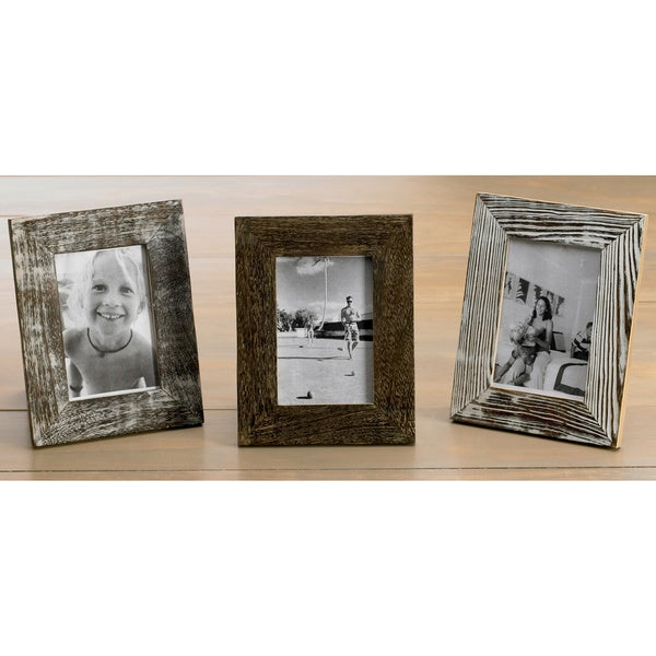 Distressed Wood 4x6 Frames (Set of 3) - Free Shipping Today ...