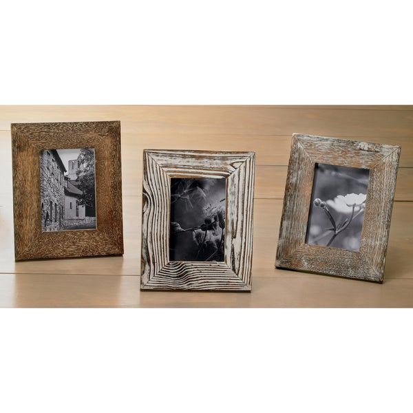 Shop Distressed Wood 3x5 Frame Set Of 3 Free Shipping Today