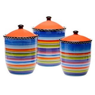 Certified International Tequila Sunrise 3-piece Canister Set