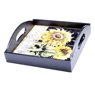 French Sunflowers 14.5-inch Square Platter