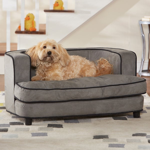Beau Enchanted Home Pet Ultra Plush Cliff Furniture Pet Bed   Grey