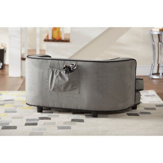 Enchanted Home Pet Ultra Plush Cliff Furniture Pet Bed - Grey
