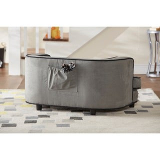 Exceptional Enchanted Home Pet Cliff Furniture Grey Ultra Plush Pet Bed