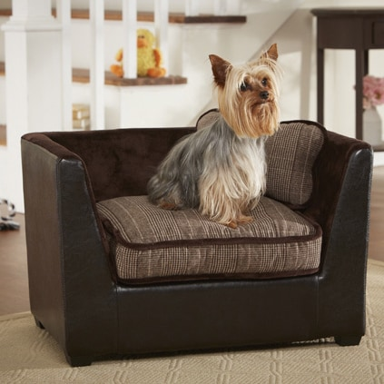 Enchanted Home Pet Ultra Plush Glenn Plaid Furniture Pet Bed Free Shipping Today Overstock