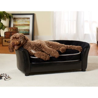 Enchanted Home Pet Ultra Plush Panache Furniture Pet Sofa Bed - Black