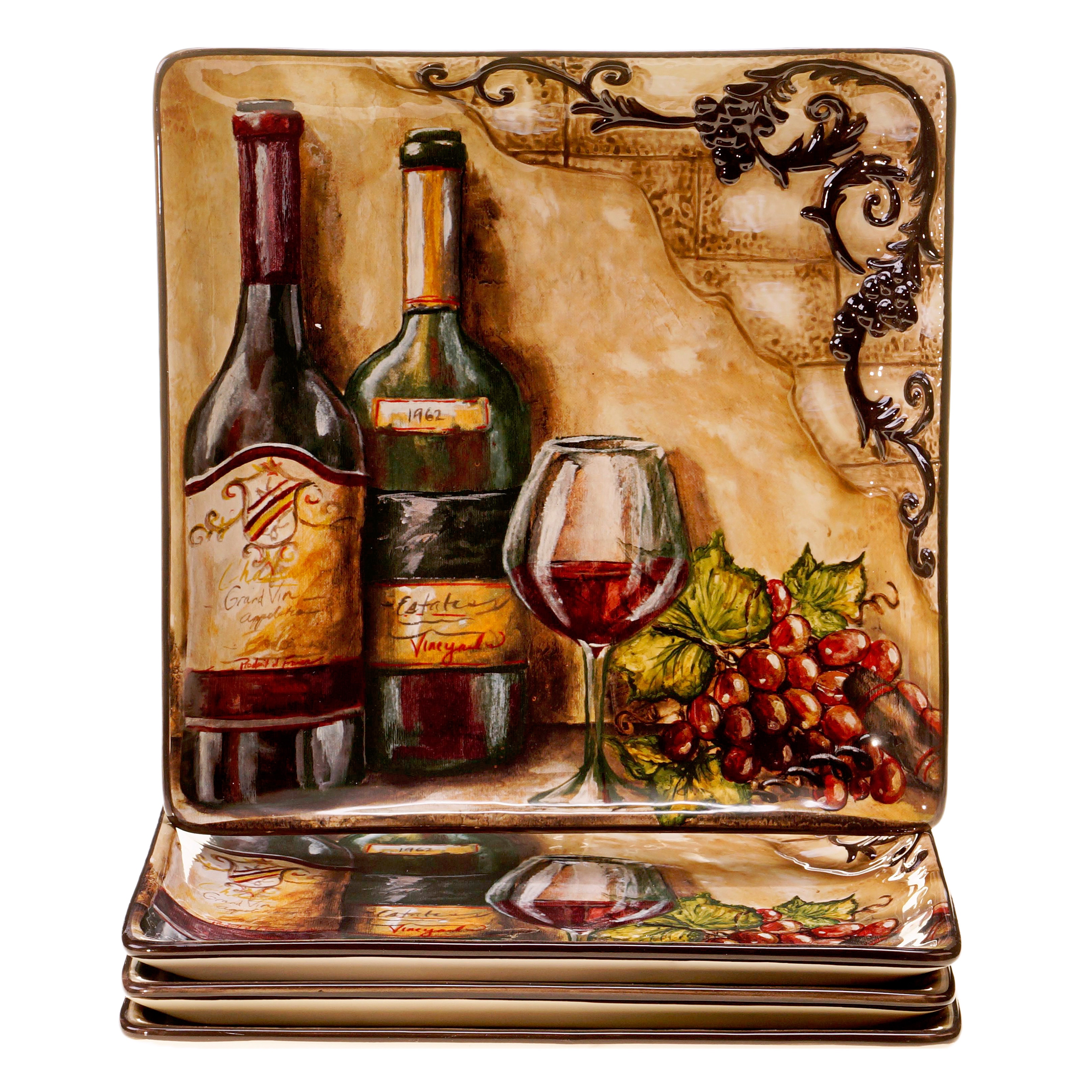 Certified Intl Hand-painted Tuscan View 10.75-inch Cerami...