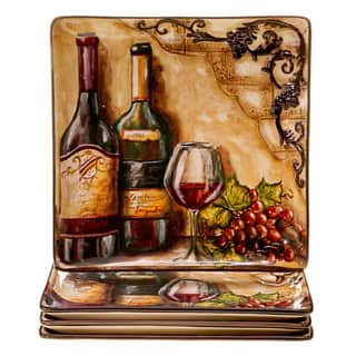 Hand-painted Tuscan View 10.75-inch Ceramic Dinner Plates (Set of 4)|https://ak1.ostkcdn.com/images/products/9067605/Hand-painted-Tuscan-View-10.75-inch-Ceramic-Dinner-Plates-Set-of-4-P16260732.jpg?impolicy=medium