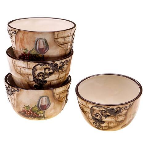 Certified International Tuscan View 5.25-inch Ceramic Ice Cream Bowl