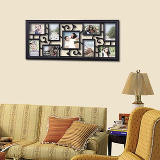 Adeco 9-opening Black Hanging Photo Frame