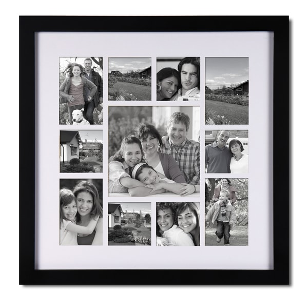 Adeco 11-opening Black Wooden Collage Frame