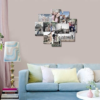 Adeco 10-opening Hanging Photo Collage Frame