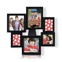 Adeco 6-opening Black Plastic Photo Collage Frame