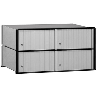 Salsbury Aluminum Mailbox 4-door Rack Ladder System