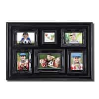 Adeco 6-opening Luxurious Black Photo Collage Frame