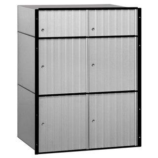 Salsbury Aluminum 6-door Standard System Mailbox