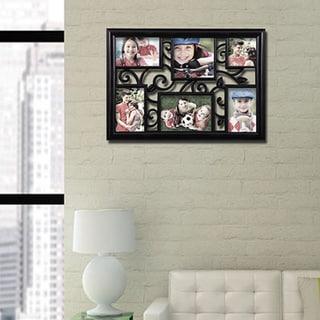 Adeco 6-opening Multi-size Black Hanging Photo Collage Frame