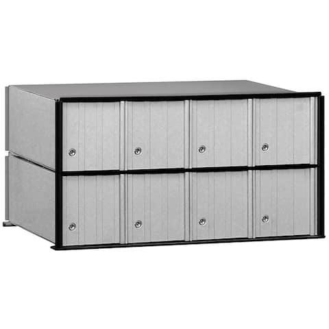 Salsbury Aluminum 8-door Rack Ladder System Mailbox