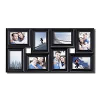 Adeco 8-opening Black Plastic Photo Collage Frame