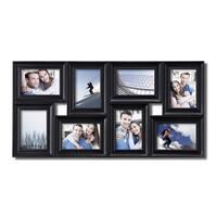 Adeco 8-opening Black Plastic Photo Collage Frame