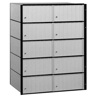 Salsbury Aluminum 10-door Standard System Mailbox
