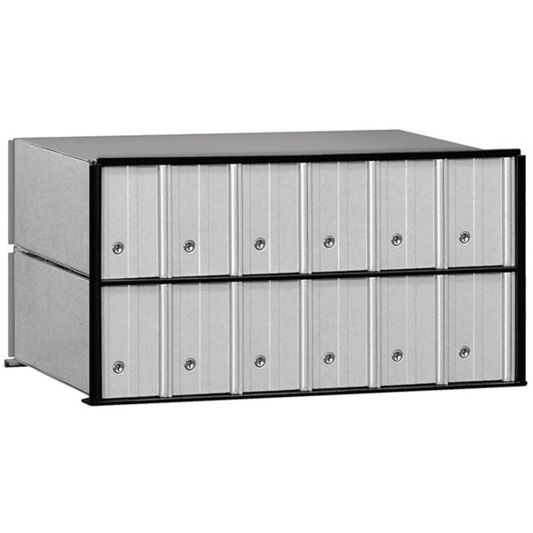 Salsbury Aluminum 12-door Rack Ladder System Mailbox