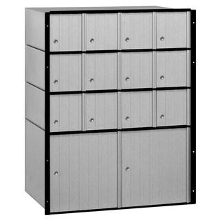 Salsbury Aluminum 14-door Standard System Mailbox