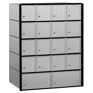 Salsbury Aluminum 18-door Standard System Mailbox