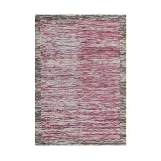 Alliyah Hand Made Braided Ash Rose New Zealand Blend Wool Rug (5' x 8')