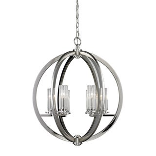 Lindisfarne 6-light Polished Nickel Pendant Lamp