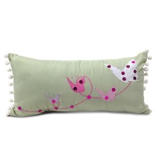 Lumbar Applique Pom-poms Embroidered Decorative Pillow