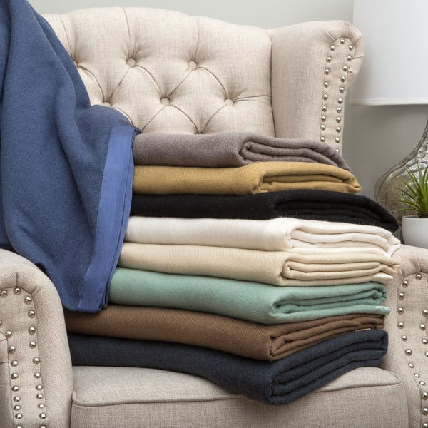 shop luxury 100 percent cashmere blanket on sale free shipping today overstock 9067683. Black Bedroom Furniture Sets. Home Design Ideas