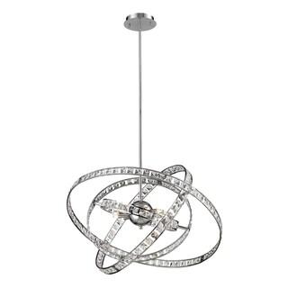 Saturn 6-light Chrome/ Crystal Chandelier
