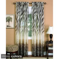 Silver Orchid Astaire Faux Linen Curtain Panel