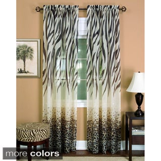 Silver Orchid Astaire Faux Linen Curtain Panel (4 options available)