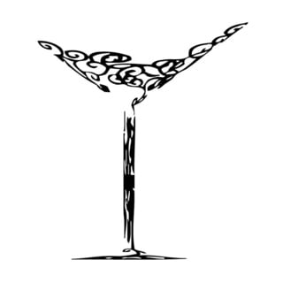 Martini Glass Vinyl Wall Art