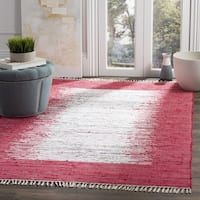 Safavieh Hand-woven Montauk Ivory/ Red Cotton Rug - 8' x 10'