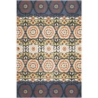 "Safavieh Hand-loomed Cedar Brook Lilac/ Orange Cotton Rug - 7'3"" x 9'3"""