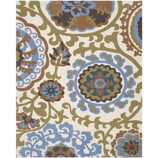 Safavieh Hand-loomed Cedar Brook Blue Cotton Rug (7'3 x 9'3)