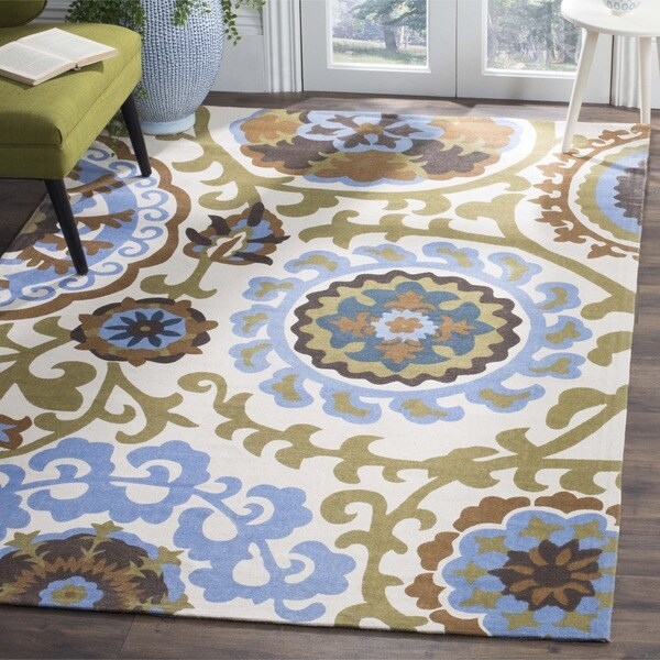 Safavieh Hand-loomed Cedar Brook Blue Cotton Rug - 7'3 x 9'3