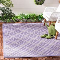 Safavieh Indoor/ Outdoor Courtyard Lilac/ Dark Lilac Rug - 8' X 11'