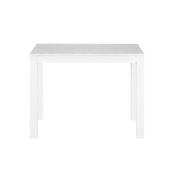 Beautiful Ameriwood Home Delilah White/ Grey Chevron Parsons Desk With Drawer   Free  Shipping Today   Overstock.com   16260898