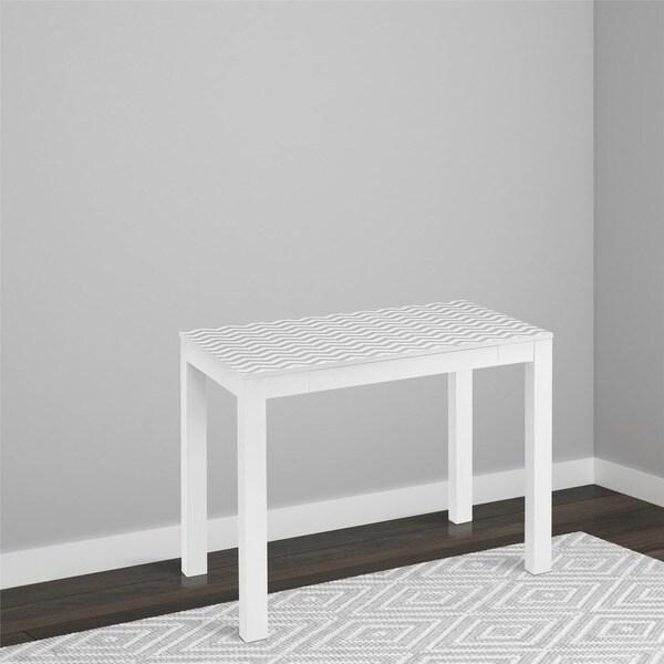 Avenue Greene White/ Grey Chevron Jack Desk with Drawer