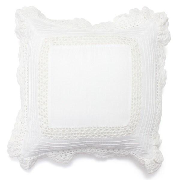 Bella Crochet Cotton Pillow
