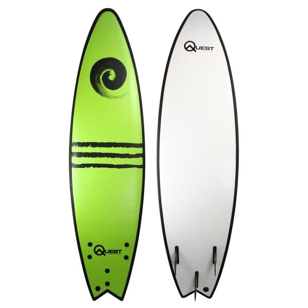 Quest Green Soft-top 7-foot Surfboard