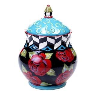 Classic Rose 10.75-inch Ceramic Biscotti Jar
