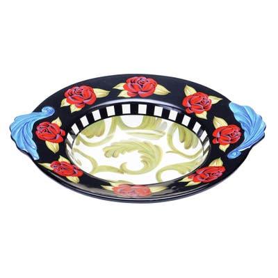 Certified International Classic Rose Shallow Ceramic Serving Bowl