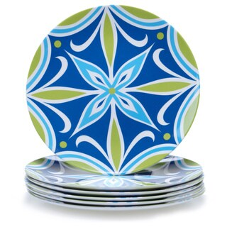 Certified International Mediteranean 9-inch Melamine Salad Plate (Set of 6)