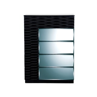 Manhattan Modern Black High-gloss 5-drawer Chest