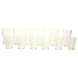 Clear 12-piece Drinkware Set