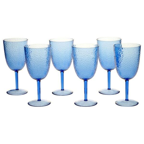 Cobalt Blue 16-ounce All-purpose Goblet (Set of 6)